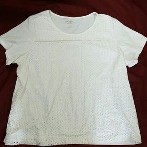 Croft & Barrow 3X White Shirt